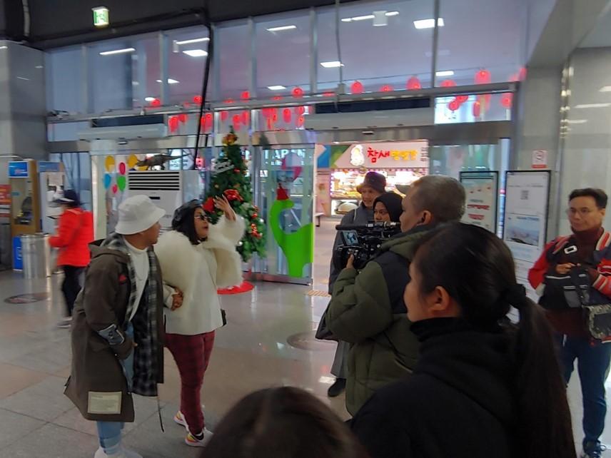 """인도네시아 현지방송사 """"TRANS TV"""" 부산관광지 소개 촬영"""